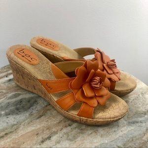 BOC Born Wedge Sandals size 10 orange Shoes